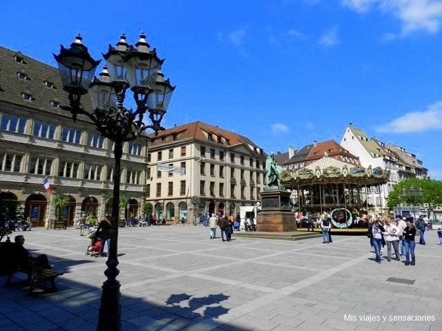 Plaza Gutemberg, Estrasburgo, Grande Íle, Alsacia, Francia