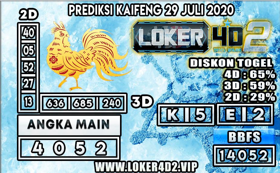 PREDIKSI TOGEL LOKER4D2 KAIFENG 29 JULI 2020