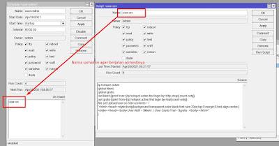 Memunnculkan user online di halaman login mikrotik