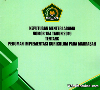 KMA 184 Tahun 2019 tentang Pedoman Implementasi Kurikulum pada Madrasah