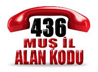 0436 Muş telefon alan kodu