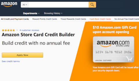 Amazon Store Card Credit Builder
