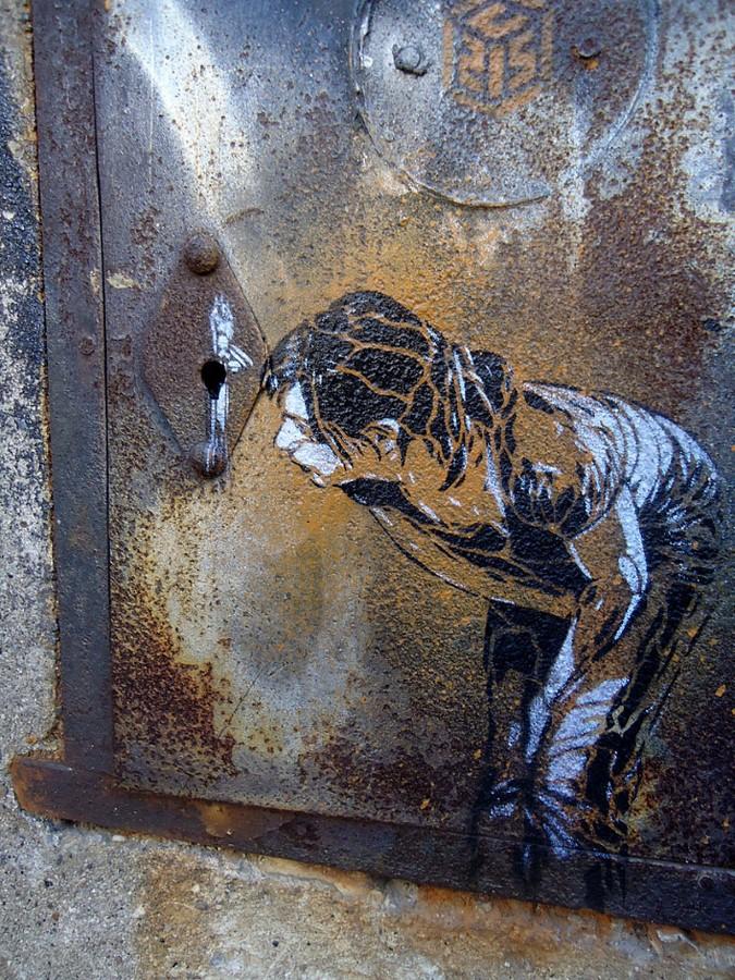 Уличное искусство Кристиана Гуеми (Christian Guémy aka C215) 29