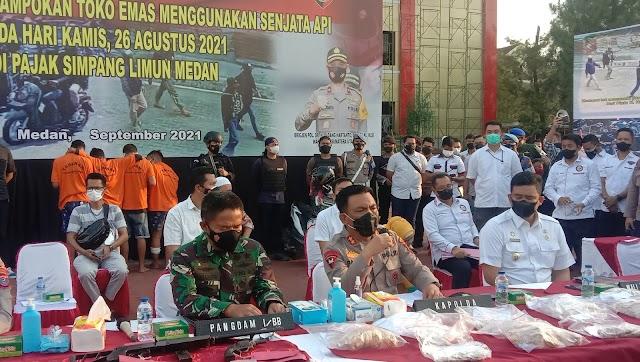 Polisi Sita Tiga  Senjata Milik Tersangka Perampokan Emas di Simpang Limun