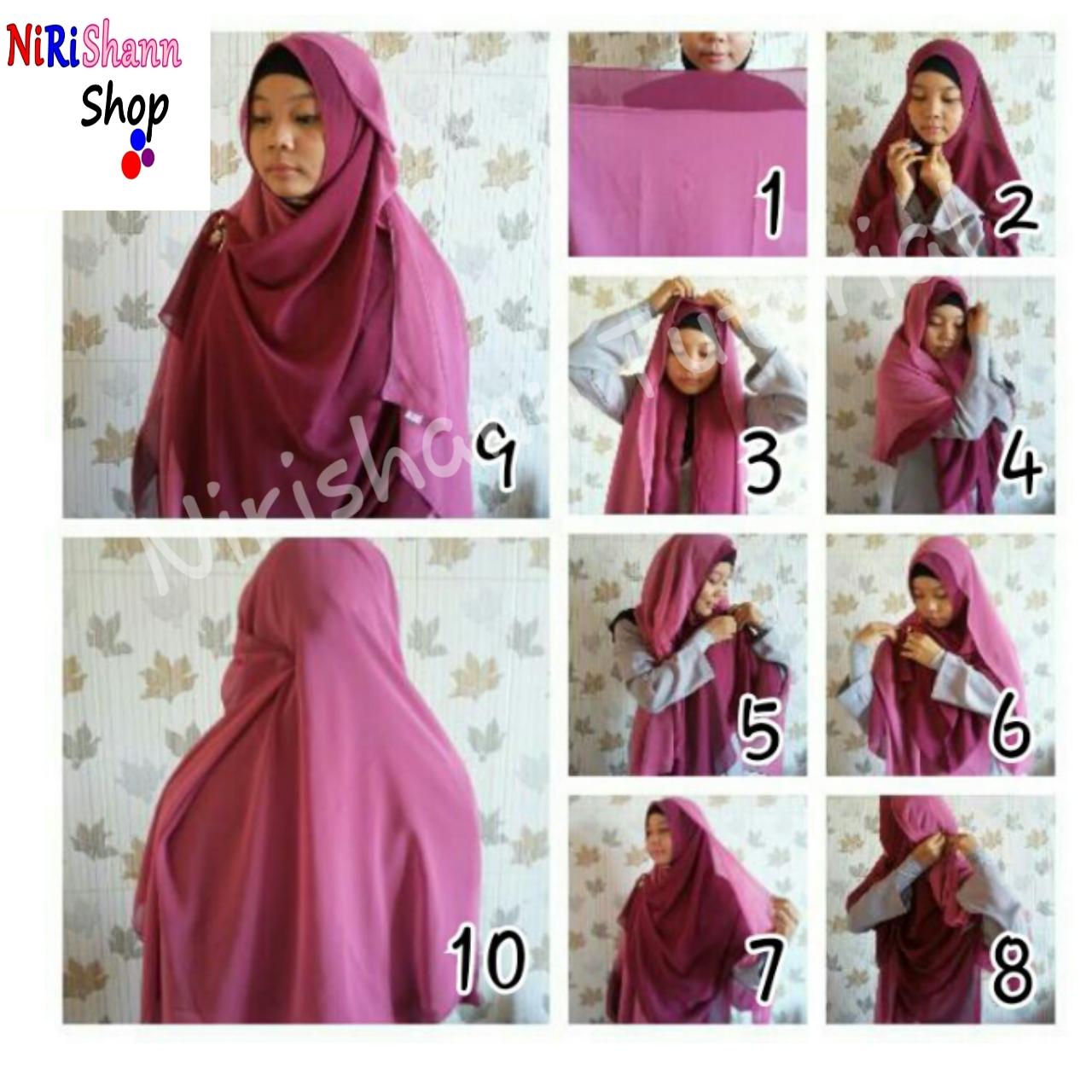 Tutorial Hijab Pashmina Jadi Syari