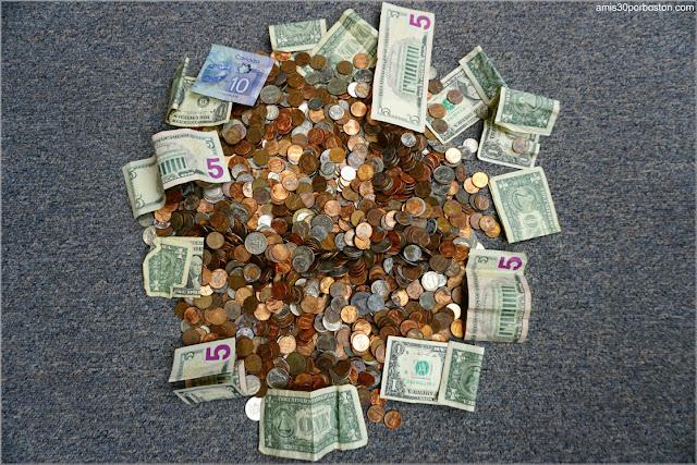 Monedas y Billetes que he ido Encontrando durante mis Paseos desde el 2012 hasta el 2019