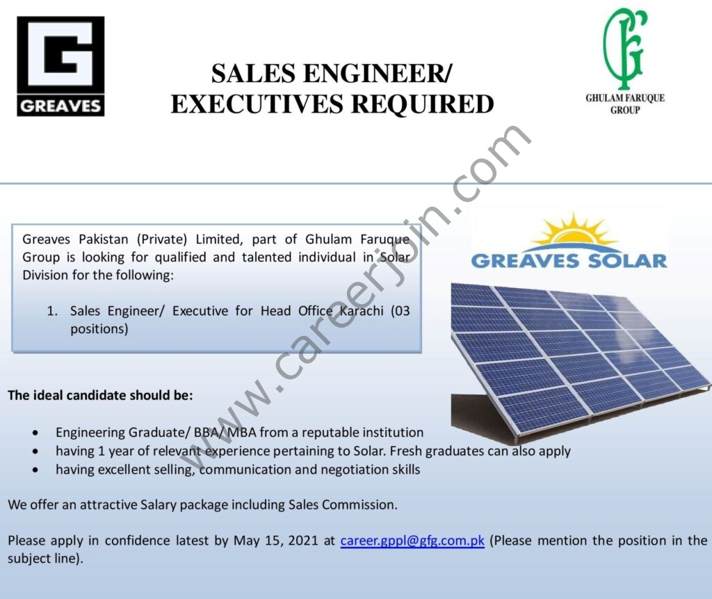 Greaves Pakistan Pvt Ltd Jobs 2021 in Pakistan