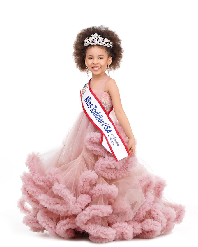 5 Years Old Kleopatra Vargas Wins Miss Toddler USA America Nation 2021