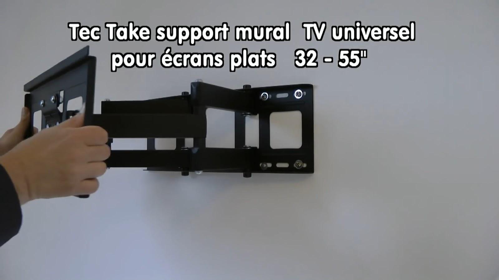 fixer un support mural pour tv tuto. Black Bedroom Furniture Sets. Home Design Ideas