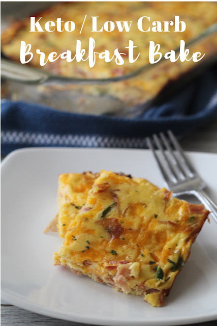 KETO BREAKFAST BAKE WITH HAM, EGGS AND CHEESE RECIPE