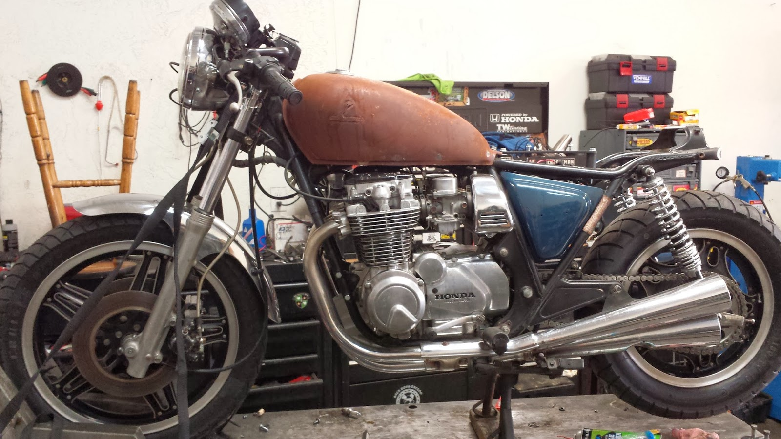 road map mosaics: 1981 honda cb650 cafe racer - project update