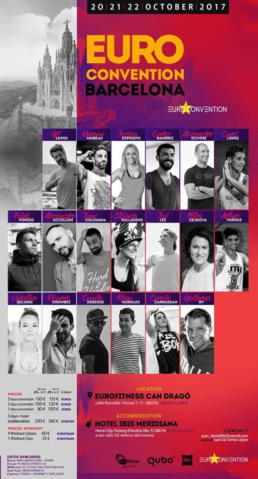 Euroconvention Barcelona 2017, 20-21-22 ottobre a Barcellona