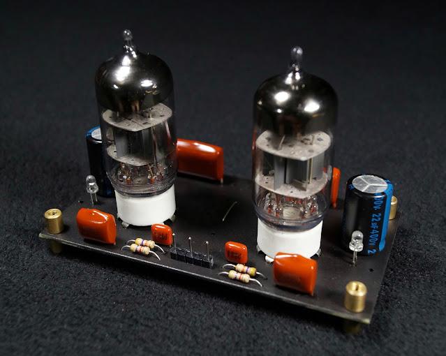 Собранный предварительный усилитель на лампе 6Н1П