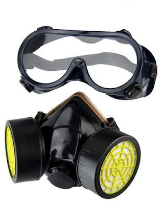 نظارة حماية و قناع أنف واقي من الغازات الضارة