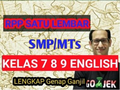 RPP 1 Lembar Bahasa Inggris SMP Kelas 7 8 9 Semester 1 2 contoh format rpp 1 lembar bahasa inggris smp kelas 8 kelas 7 dan kelas 9 semester 1 ,2 kurikulum 2013 revisi 2020 2019