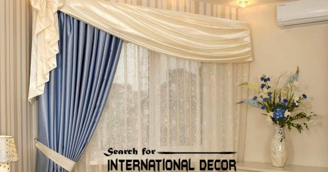 Unique bedroom curtain design, blue and white | Curtain ...