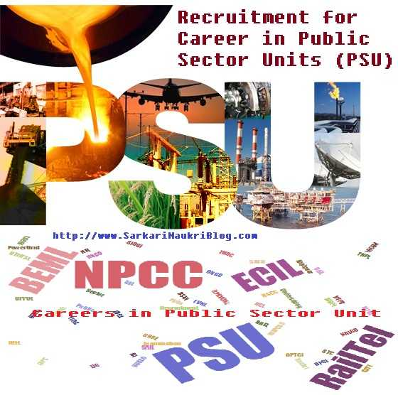 Government Job Vacancy in Public Sector Units PSU India