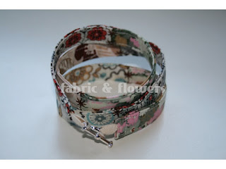 Fabric Wrap Bracelet tutorial by fabricandflowers | Sonia Spence