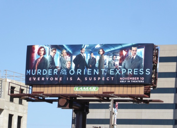 Murder on Orient Express movie billboard