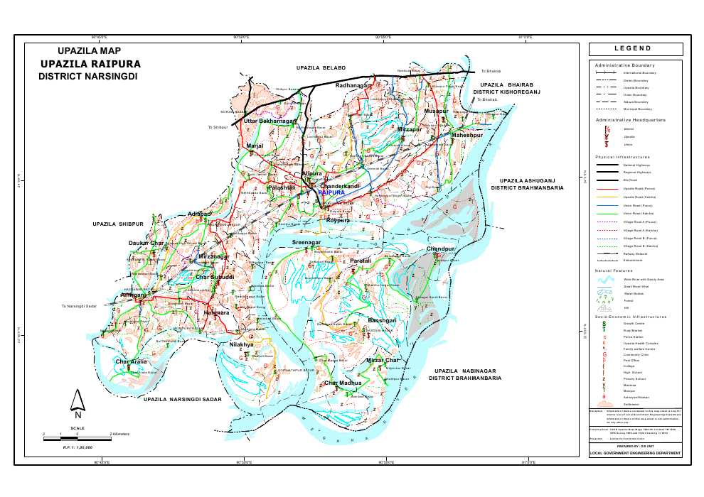 Raipura Upazila Map Narsingdi District Bangladesh