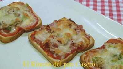 Mini pizzas de pan de molde muy fáciles y super rápidas