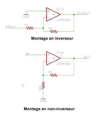 inverting non inverting OP amp