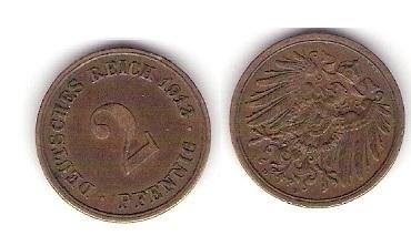Raja S Coins Sale 2 Pfennig 1912 German Coin Ex Rare
