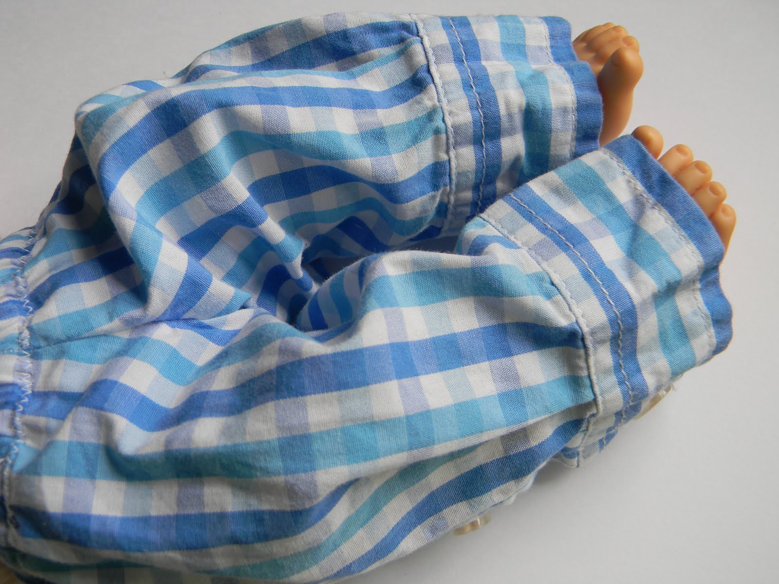 Upcycling A Boys Shirt Into Baby Doll Clothes