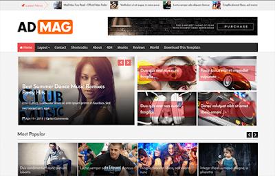 Ad Mag бесплатный шаблон для blogger