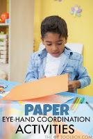 Visual motor integration activities using paper