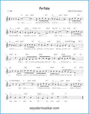 Perfidia chords jazz standar