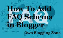 How to Add FAQ Schema In Blogger Website?