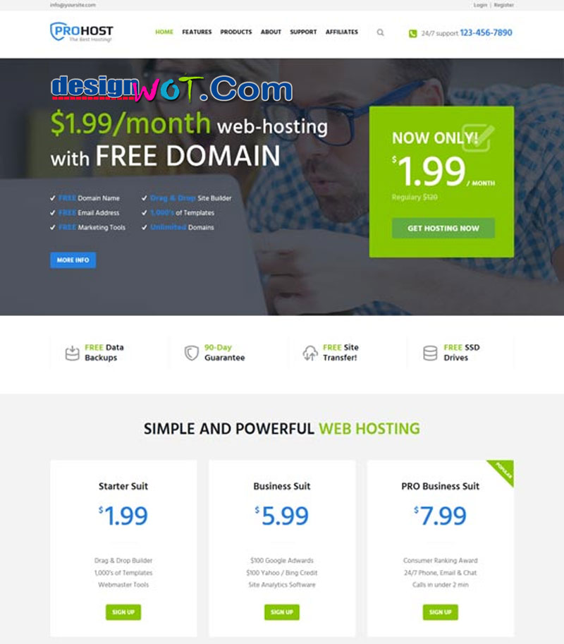 ProHost - Hosting and Technology WordPress Theme