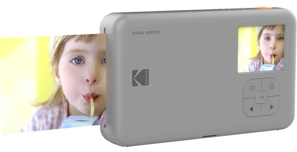 Kodak Mini Shot белого цвета, вид сзади