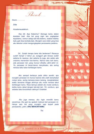 Download Contoh Surat Cinta Buat Sahabat Sendiri dalam Bentuk File Word