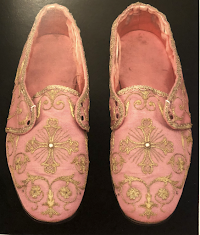 A Liturgical Rarity: Rose Pontifical Sandals