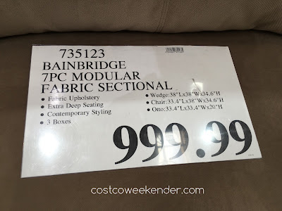 Deal for the Bainbridge Modular Fabric Sectional at Costco