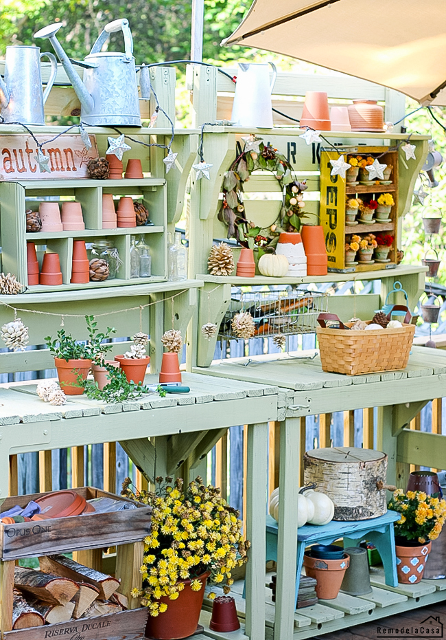 from playset to potting bench