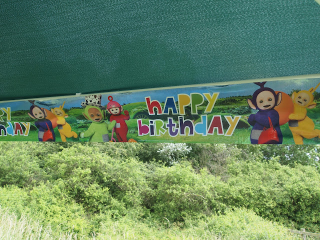 Foil Teletubbies 'Happy Birthday' banners