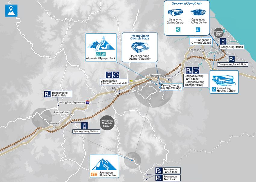 pyeongchang mappa paralimpiadi invernali