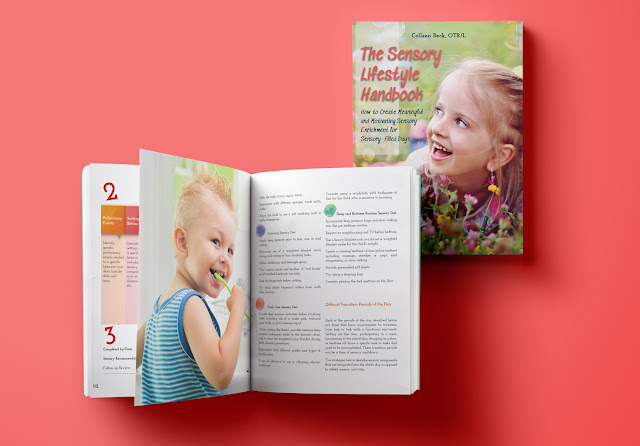 Information about The Sensory Lifestyle Handbook, a book for understanding how to create sensory diets and motivating and authentic sensory enrichment for a sensory life.