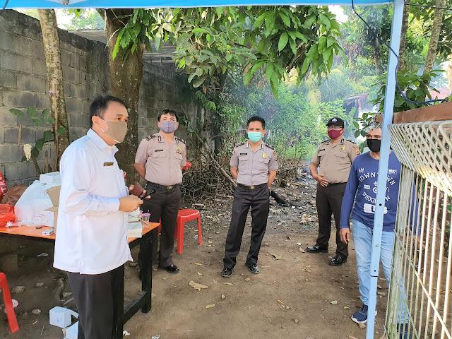 Lakat Sidak Pos Pemeriksaan Kesehatan di batas Kota Paal IV dan Malendeng