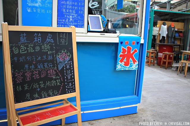 IMG 0344 - 一中商圈│藍箱處Blue Box-分子冰淇淋雞蛋仔*少女心的清爽夢幻逸品。隱身在巷弄間的IG打卡新景點