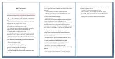 jumlah kata, jumlah karakter dan jumlah halaman dalam format naskah
