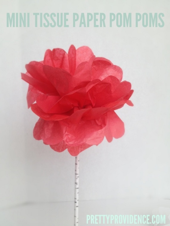 how to make mini tissue paper pom poms for centerpieces, garlands, etc. at www.prettyprovidence.com