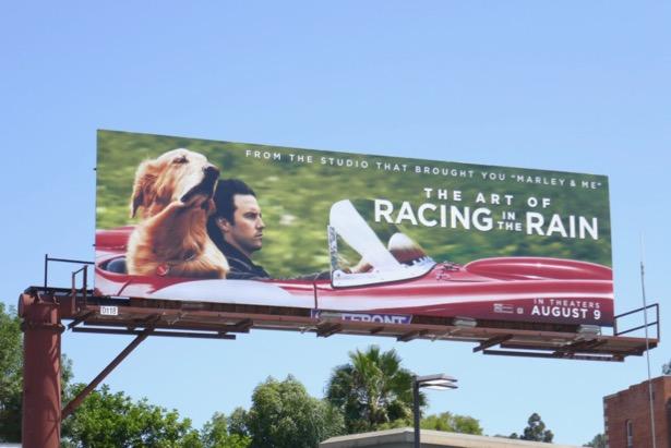 Art Racing in Rain movie billboard