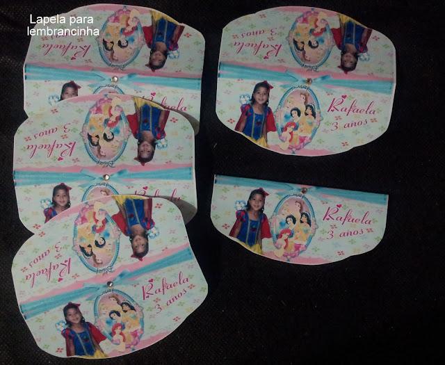 Lapela As Princesas  Disney dicas e ideias para decoração de festa personalizados