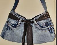 DIY tutorial / Denim handbag /  dżinsowa torebka / przeróbka dżinsów