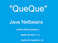 Contoh Program Java Netbeans Queque