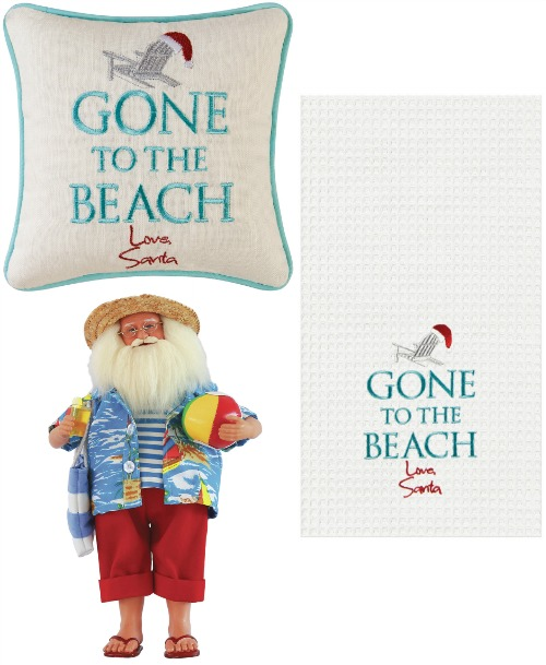Beach Santa Decorations